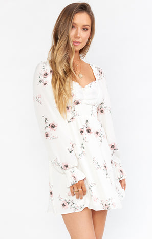 Bellarosa Mini Dress ~ Pretty in White Floral
