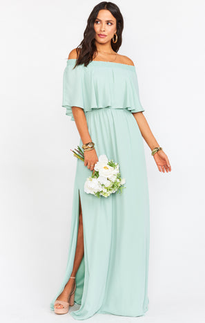 Hacienda Maxi Dress ~ Dusty Mint Crisp