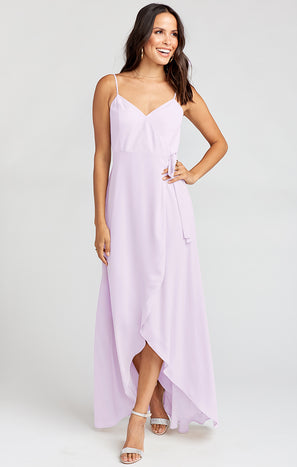 Mariah Wrap Dress ~ Violet Chiffon