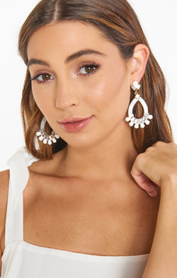 Bethany Drop Earrings ~ White