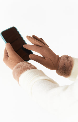 Smart Touch Gloves ~ Taupe