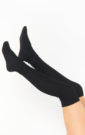 Snowed In Over the Knee Socks ~ Black