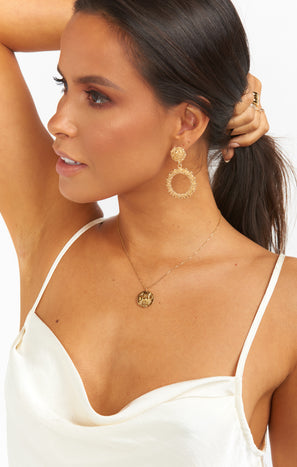 Dallas Circle Earrings ~ Gold