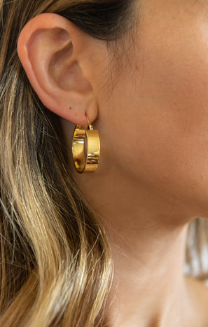 Gorjana Jax Small Hoops ~ 18K Gold Plated