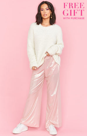 Disco Nap PJ Pants ~ Rose Gold