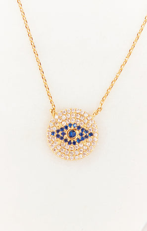 Evil Eye Necklace ~ 14K Gold