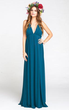 Ava Maxi Dress ~ Deep Jade Chiffon