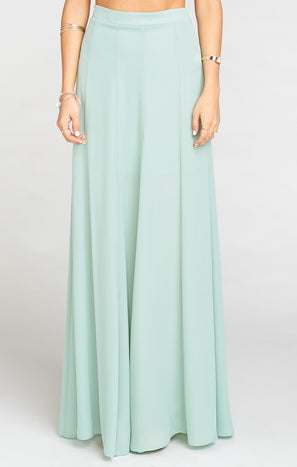 Princess Ariel Maxi Skirt ~ Dusty Mint Crisp