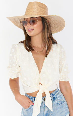 Lack of Color Palma Wide Brim Hat ~ Natural