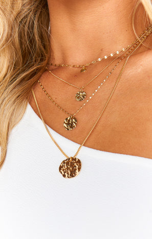 Elements Triple Layer Necklace ~ Gold