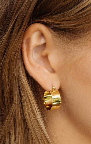 LUV AJ Positano Hoop Earrings ~ Gold
