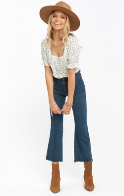 Cropped Farrah Trouser ~ Dark Rainstorm
