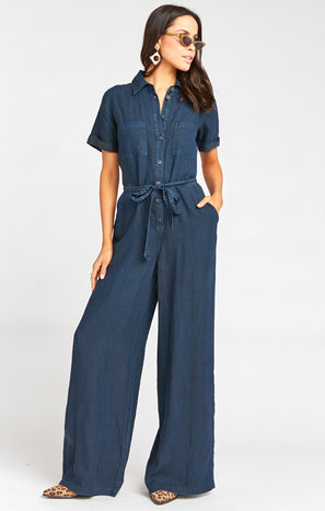 Rylie Jumpsuit ~ Midnight Chambray