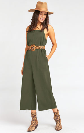 Mama T Overalls ~ Army Green
