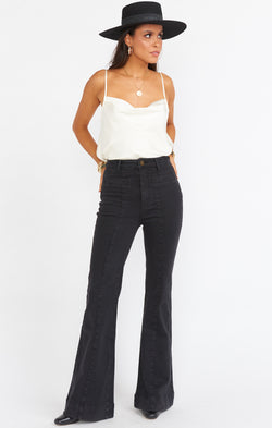 Farrah Front Seam Trouser ~ Washed Black