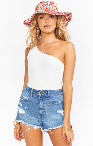 Arizona High Waisted Shorts ~ Out of the Blue