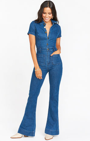 Everhart Jumpsuit ~ Lunar Blue
