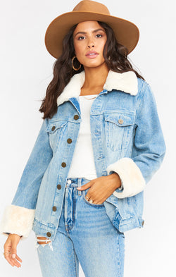 Denver Denim Jacket ~ Icy Blue
