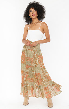Sadie Convertible Skirt Dress ~ Paisley Dream