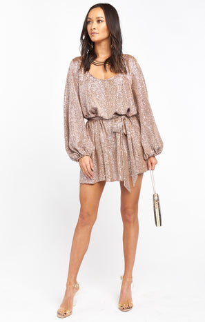 Liv Mini Dress ~ Silver Confetti