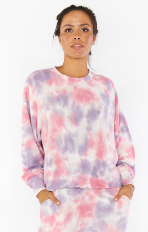 Saturday Sweatshirt ~ Candy Tie Dye