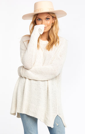 Anya Sweater ~ White Knit