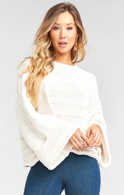 Tulsa Sweater ~ Cream Stripe Knit