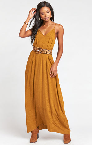 Allegra Maxi Dress ~ Fall In Leaf Maple