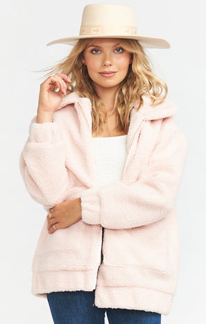 Cordelia Jacket ~ Pink Teddy Fleece