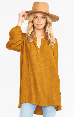Tamika Tunic ~ Fall In Leaf Maple