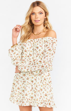 Lee Lee Ruffle Dress ~ Prairie Ditz Floral