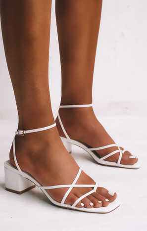 Billini Mica Block Heels ~ White