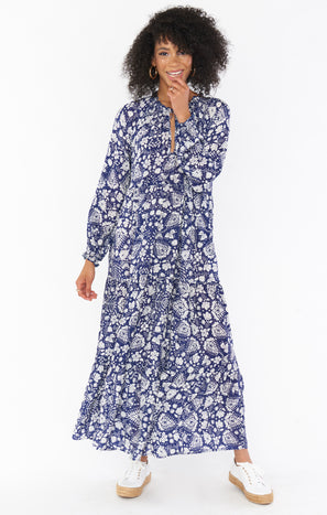 Birdie Maxi Dress ~ Falling for Blue