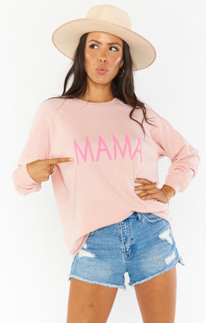 Coulter Sweatshirt ~ Pink Mama Graphic