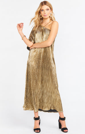 Tropez Maxi ~ Good as Gold Pleat