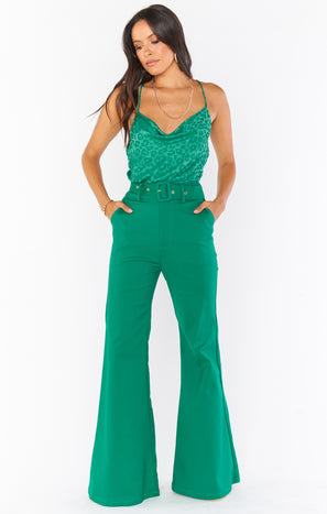 DJ Flare Pant ~ Green Suiting