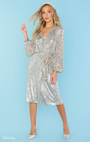 Midnight Duster ~ Silver Sequins