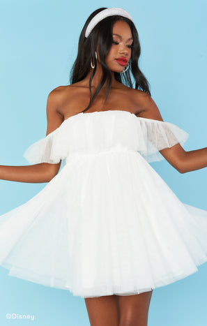 Have A Ball Babydoll  ~ White Tulle
