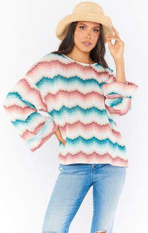 Daytime Pullover ~ Catch Waves Knit