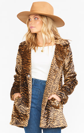 Hillary Jacket ~ Roaring Tiger Faux Fur