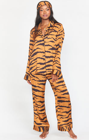 Paige PJ Set with Eye Mask ~ Great Tiger