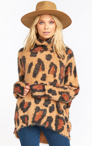 Fatima Turtleneck Sweater ~ Cheetah Fever Knit