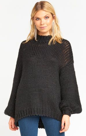Jude Sweater ~ Black Knit
