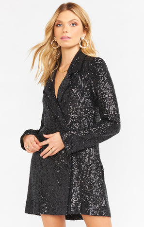 Bazel Blazer Dress ~ Limelight Sequins