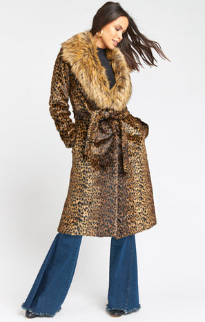 Minnelli Jacket ~ Cheetah Faux Fur