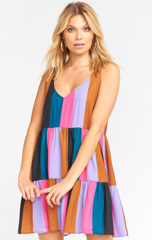 Emme Tank Dress ~ Mezcal Stripe