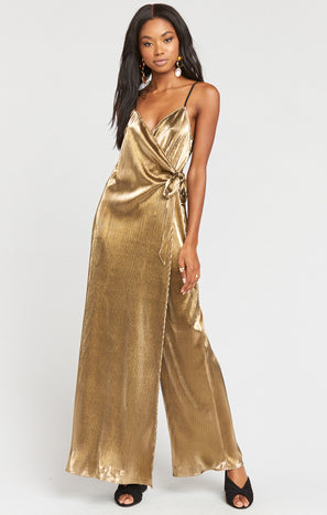 Jane Jumpsuit ~ Pleated Gold