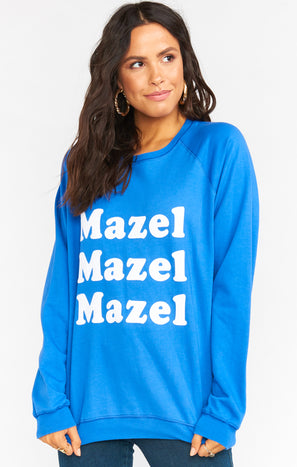 Cole Sweatshirt ~ Mazel Mazel Graphic