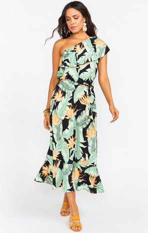 Rita Midi Dress ~ Night in Paradise Spandy