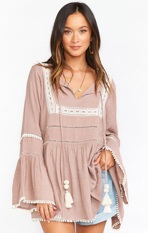 Romnia Tunic Dress ~ Mauve